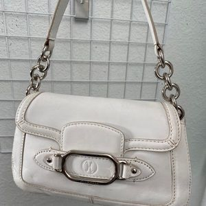 Cole Haan trinity satchel white leather purse